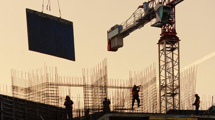 תמונת אווירה של בנייה