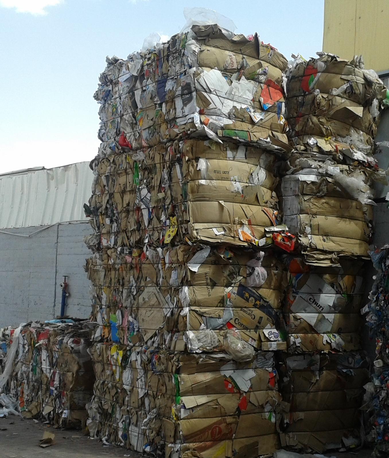פסולת אריזות תעשייתית קרטון