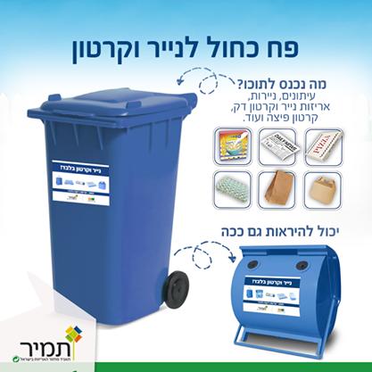 פח כחול - תמיר תאגיד המיחזור בישראל